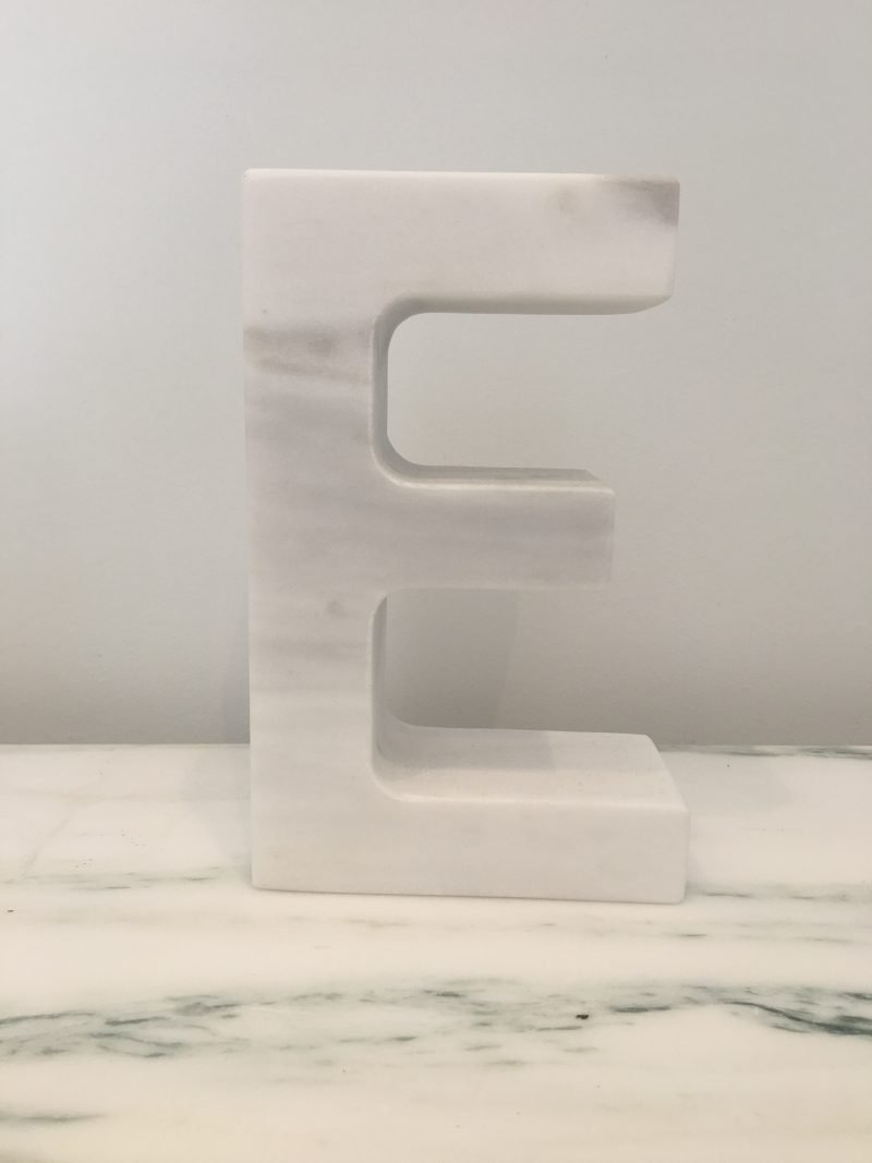 mono.rocks architect smponia marble letter